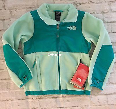 The North Face Girls SPRING  Denali Green Fleece 5 5T Toddler Jacket New