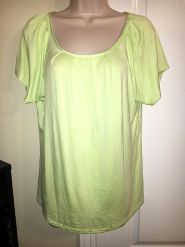 The Limited Women's Lime Green Stretch Top Blouse Sz Large NWT Msrp$39.95 Freesh