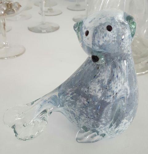 Cute & Beautiful Seal sea lion Murano Art Glass Figurine Paperweight LARGER