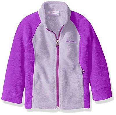 Columbia Benton Springs Fleece girls jacket......Medium 10/12...Hydrangea....NWT