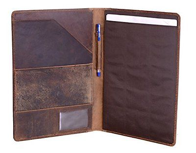 Luxury Leather Personal Organizer  Portfolio Business Official Holder File