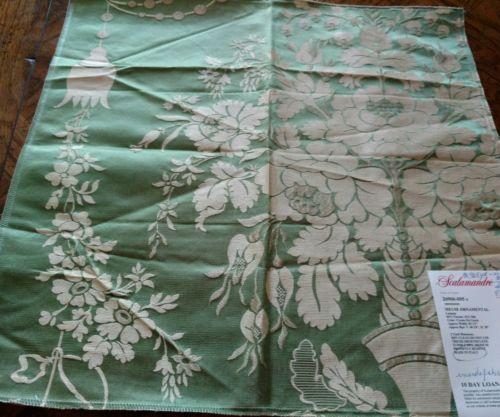 SCALAMANDRE Fabric Remnant - MEUSE ORNAMENTAL 05- LAMPAS - ITALY  18