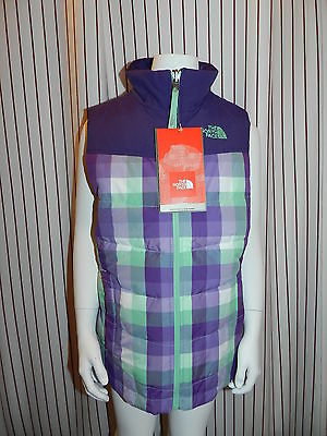 NWT The North Face Dandie Down Vest Girl's Sz MED Green $100