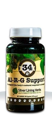 SILVER LINING HERBS #34 Al-R-G Support Dog Norm Respond to Allergens Canine 90ct