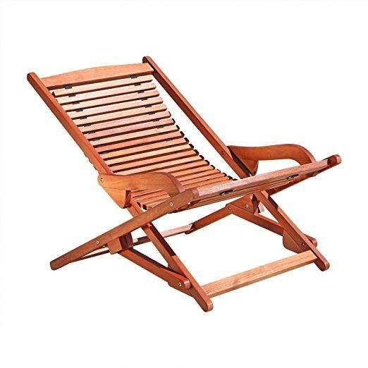 Wooden Lounge Chair Outdoor Patio Furniture Folding Chairs