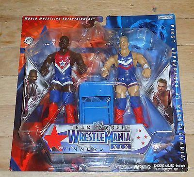 2004 WWF WWE Jakks Team Angle Shelton Benjamin Charlie Haas Wrestling Figure MOC