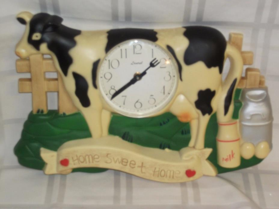 Decorative Black and White Cow Wall  Clock