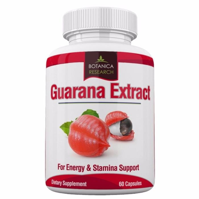 Guarana Extract with 200mg of natural caffeine. 90 Tablet Pills
