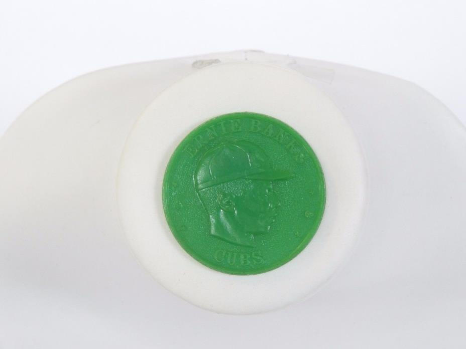 1959 ARMOUR MEATS PLASTIC COIN ERNIE BANKS CHICAGO CUBS INSERT