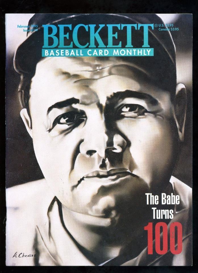 BABE RUTH  Beckett Baseball monthly #119 02/1995  THE BABE TURNS 100 Derek Jeter