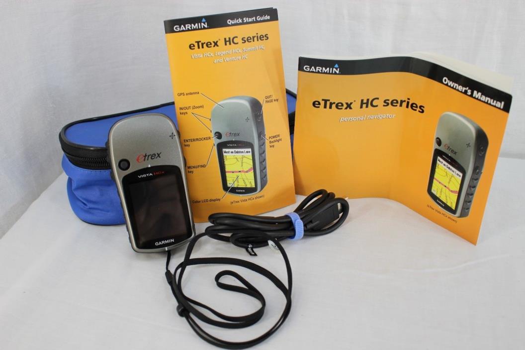 Garmin Vista HCx etrex handheld Personal Navigation With Carry Case & Instructio