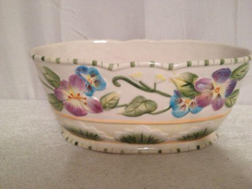Fitz & Floyd Classics Halcyon Floral Oblong Bowl