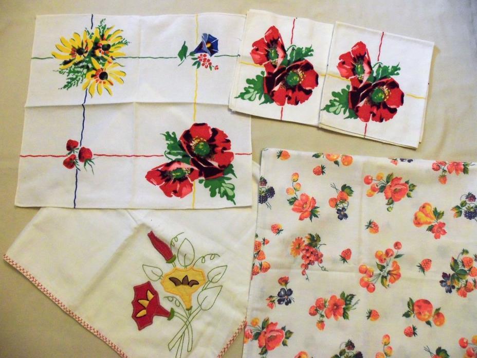 Vintage fruit tablecloths for sale classifieds