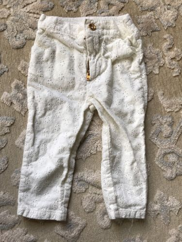 Juicy Couture Lace Pants Size 6-12 Months, White Cream
