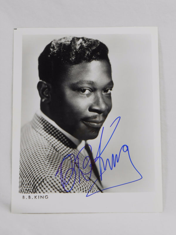 BB King SIGNED 8x10 Black and White Promo Photo AUTOGRAPHED