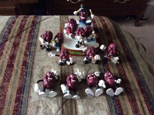 Vintage The California Raisins Mix Set Of 13 Applause 1987-88 Rare CALRAB Toys