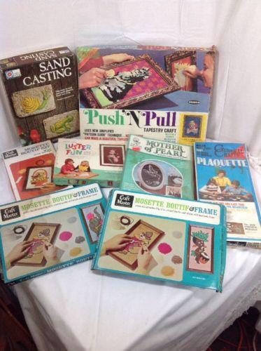 HUGE Lot Of Vintage  Crafts HEIDI, Sand Casting, Mosette Boutif, PLAQUETTE
