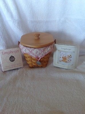 Longaberger 2001 Horizon of Hope Basket Combo w Lid & TO