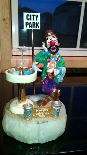 Ron Lee 1991 clown signed and numbered