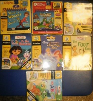 You Pick NEW LeapFrog My First LeapPad Cartridge Leap Pad Frog Learning Game Lot