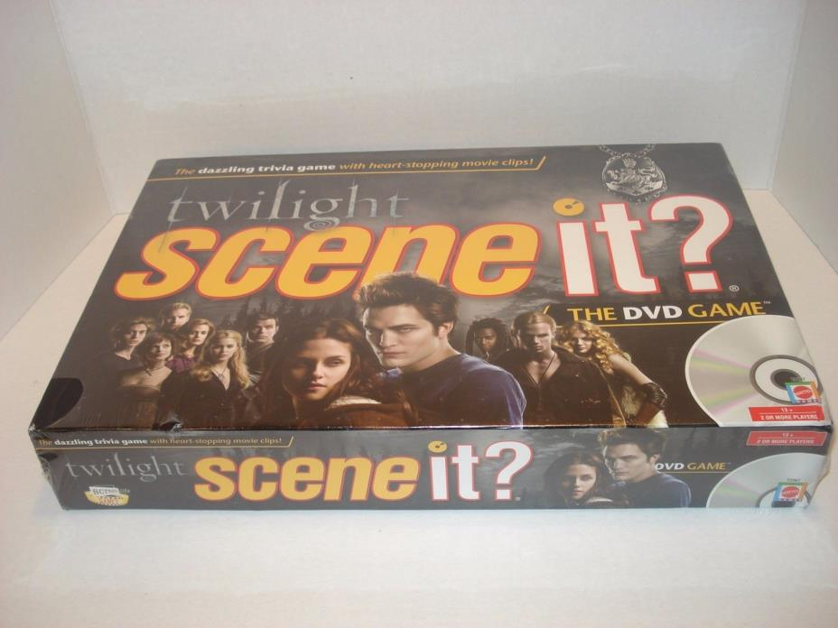 Twilight Scene It Game, DVD Trivia Game, Heart Stopping Movie Clips New Sealed