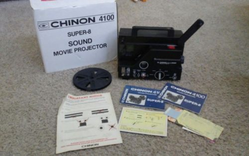 Chinon 4100 Super 8 SOUND Adjustable Speed Movie Projector EXCELLENT