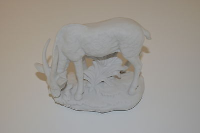 Aldon Accessories White Bisque Porcelain Figurine of a Grazing Impala