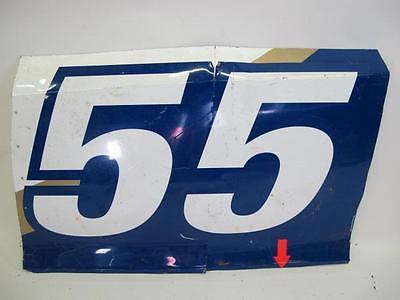 NASCAR Brian Vickers #55 Driver Race Used DOOR NUMBER Sprint Cup Sheet Metal