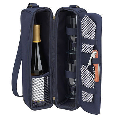 Picnic at Ascot Classic Sunset Deluxe Wine Carrier for 2