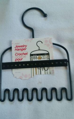 MINI JEWELRY HANGER HOLDS EARRINGS, NECKLACES,BRACELET & RINGS  8