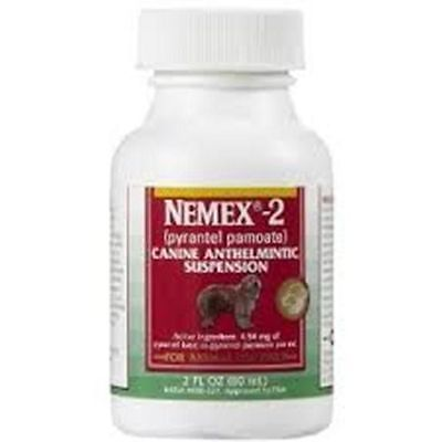 Nemex 2 Dog Canine Liquid Dewormer Wormer 2 oz Pyrantel Great Taste SAFE