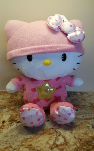 Hello Kitty Plush Musical Night Light Star Sanrio Plays 3 Melodies Lights Up