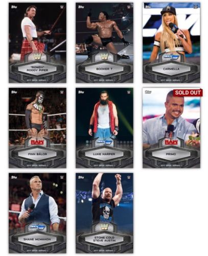 2017 Topps WWE Slam BLACK PARALLEL 8 Digital Card Lot Carmella Austin Balor