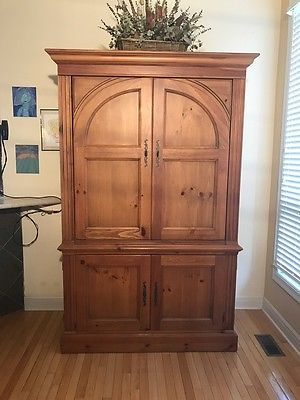 TV Armoire Solid Pine