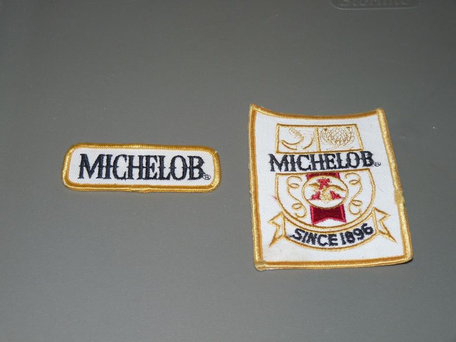 vintage Michelob beer patches