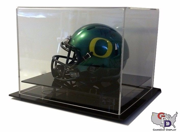 Acrylic Table Counter or Desk top Mini Helmet Display Case NFL NCAA UV Protect