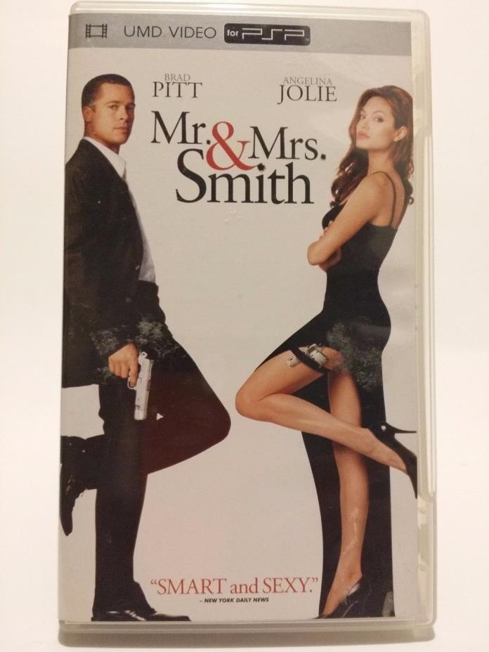 SONY PSP UMD MOVIE Mr, & Mrs, Smith ORIGINAL COVER ART AND CASE FREE SHIPPING