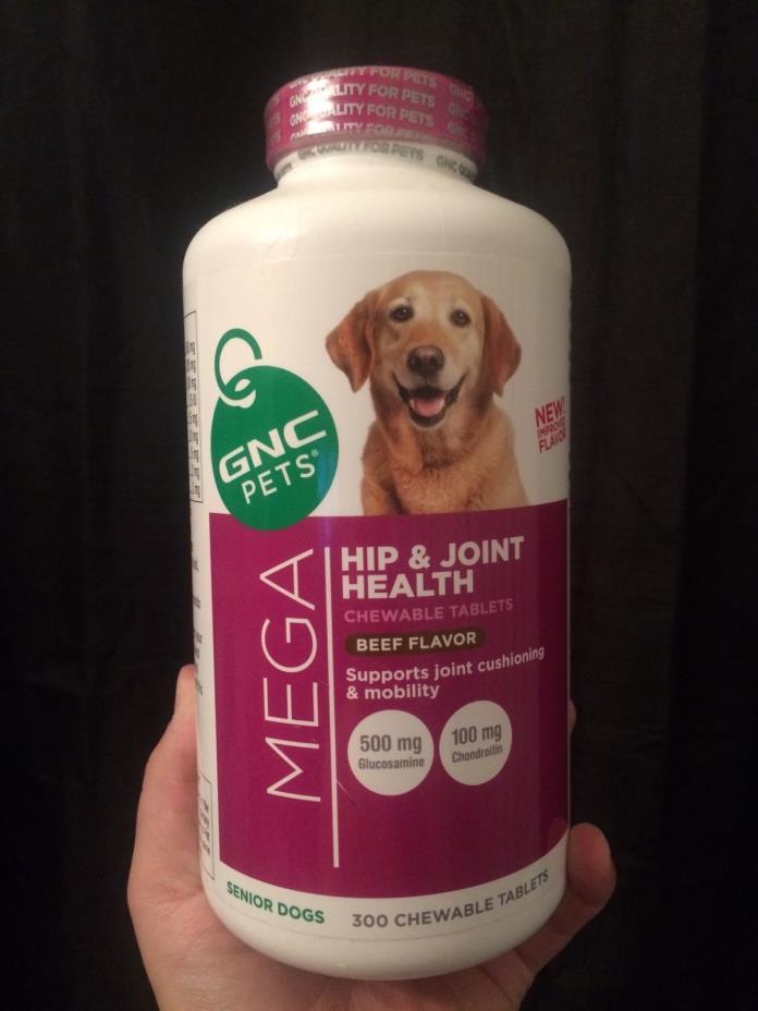 GNC Pets Mega Hip & Joint Health - Beef flavor - Senior Dogs - 300 ct.