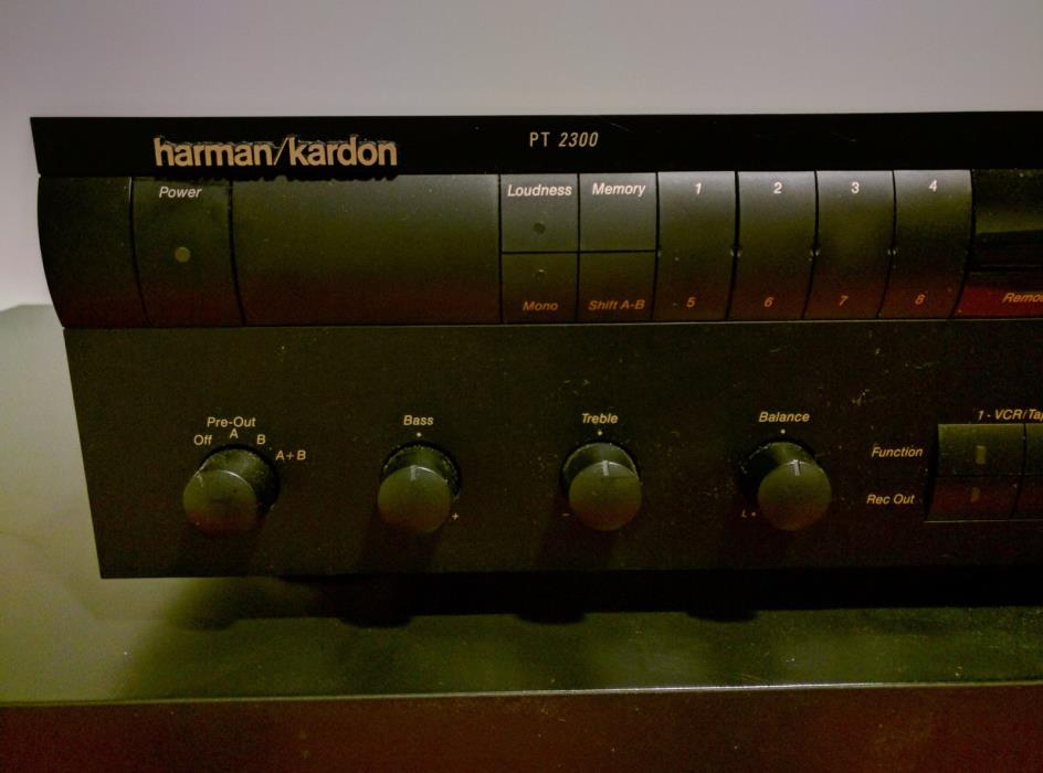 Harman Kardon PT2300 stereo preamp tuner original owner.