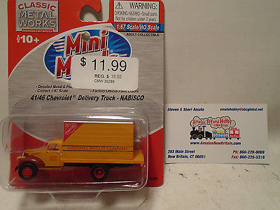 CLASSIC METAL WORKS #30299 HO SCALE 1941/46 CHEVY DELIVERY TRUCK NABISCO NEW