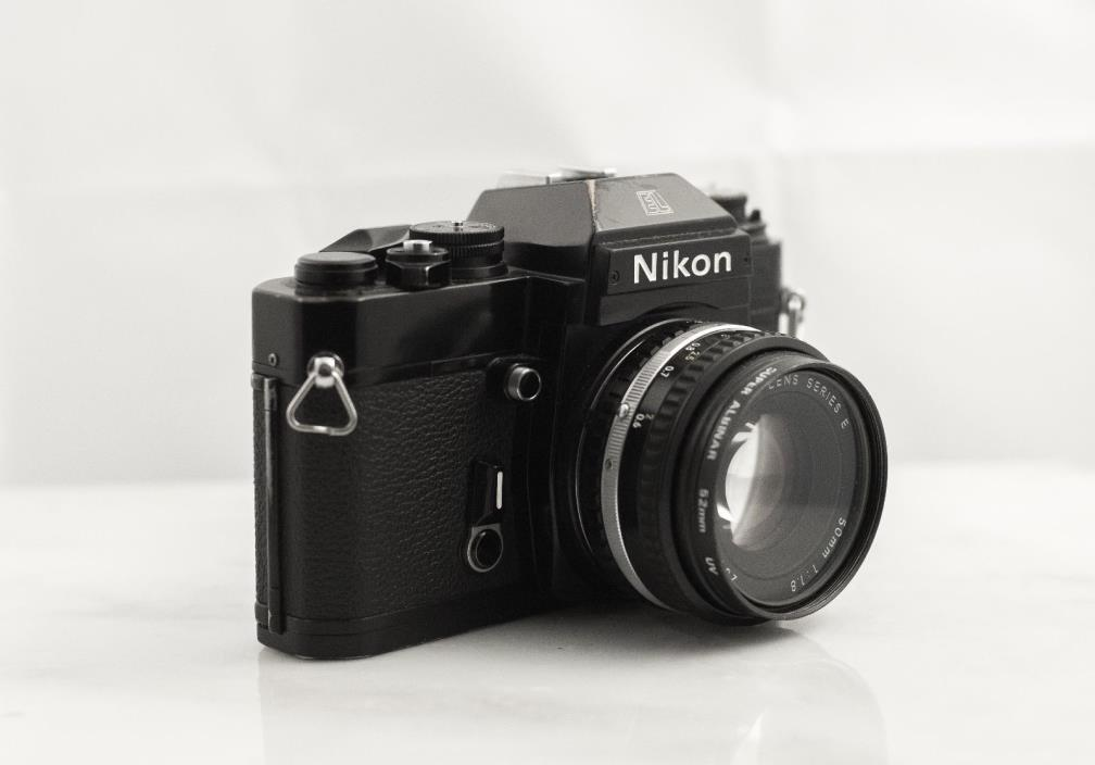 Nikon EL2 35mm SLR Film Camera with 50mm Lens f1.8