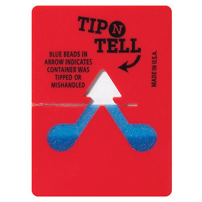 Box Partners Tip-N-Tell Indicator Red 100/Case TNT100