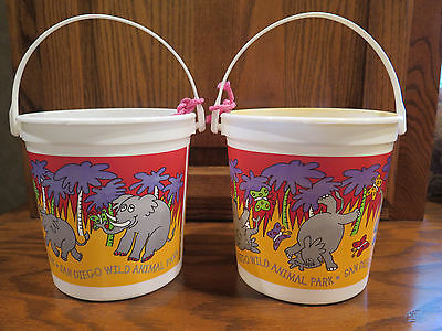 Storage Crafts Organize Toys Bucket Container Tote TOY San Diego Zoo Wild Lot =2