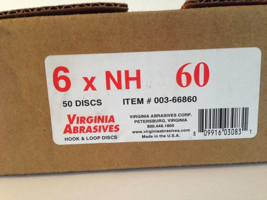 60 Grit U-Sand Floor Sander Hook & Loop Discs - Sandpaper - Box of 50