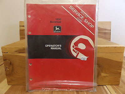 John Deere 1650 Backhoe Operator's Manual NEW