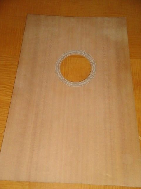X - BRACED SOLID SPRUCE DREADNAUGHT GUITAR TOP WITH BOUND SOUND HOLE