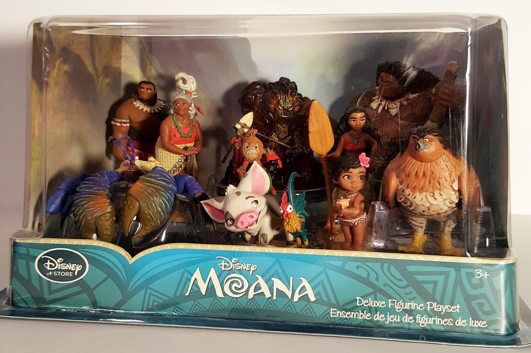 Disney Store Moana Deluxe 10 PVC Figurine Play Set Maui Pua NEW   wwvintage5star