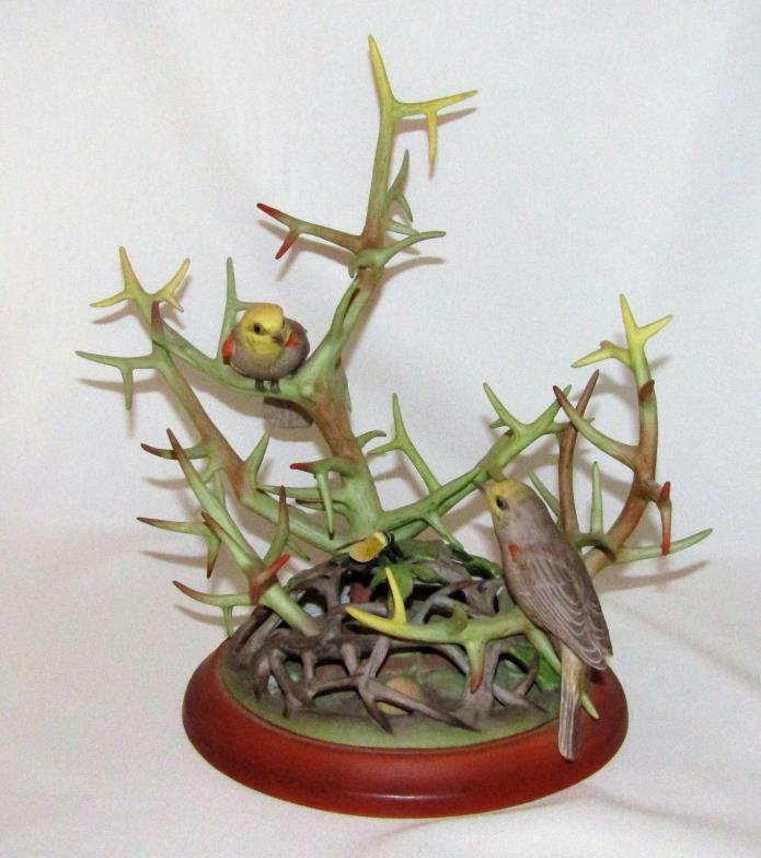 Boehm Porcelain Bird VERDINS Figurine Limited Edition #400-02