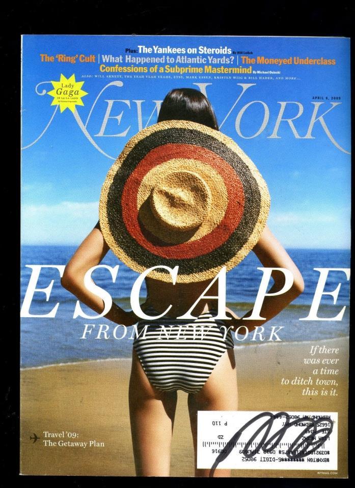 New York Magazine Escape from New York April 2009 LADY GAGA, NY YANKEES