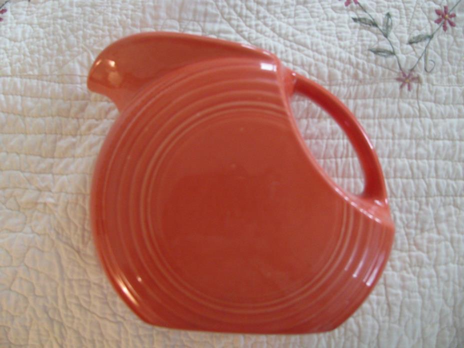 Vintage Homer Laughlin Fiesta Fiestaware Large Persimmon Red Orange Pitcher